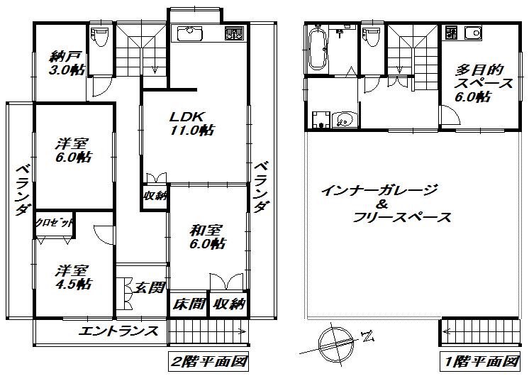 富士市中島インナーガレージ中古住宅