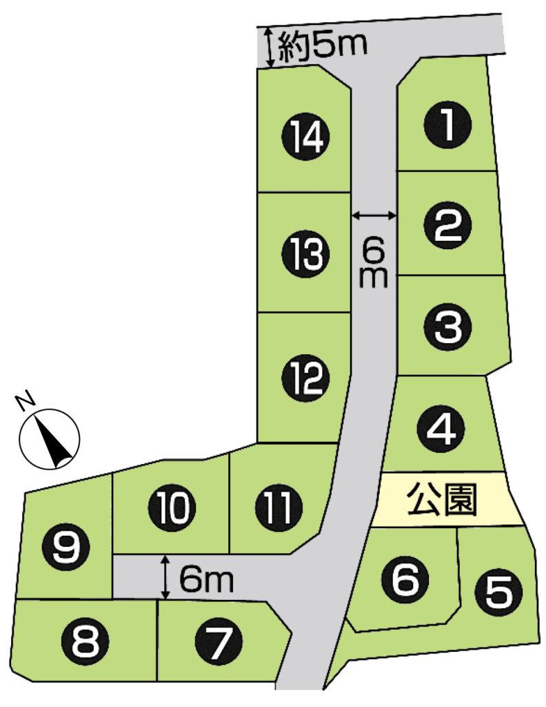 富士市伝法 9号地 岳陽中徒歩3分 丘小と岳陽中との間の土地