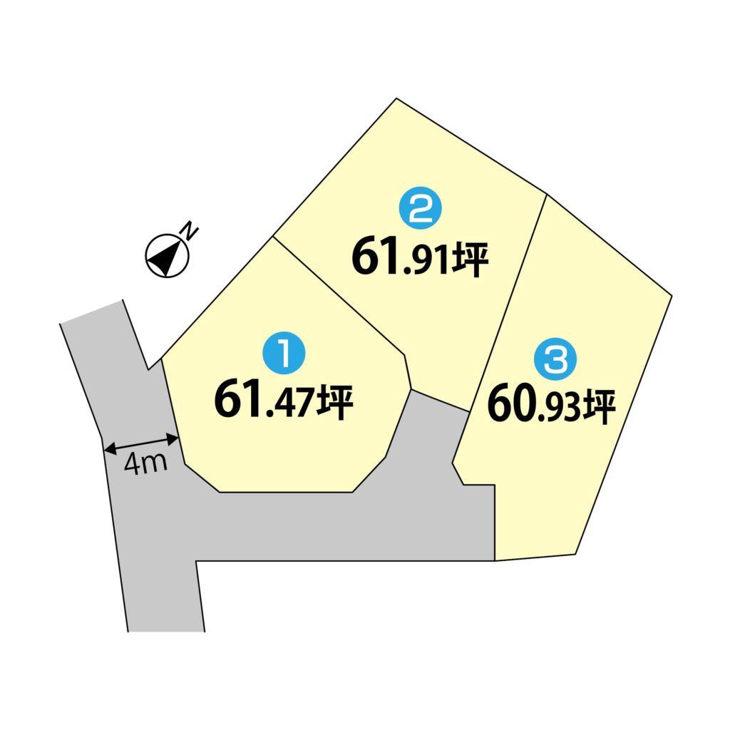 ★富士市松本2号 中央小・富士中 60.91坪 999万円の土地★