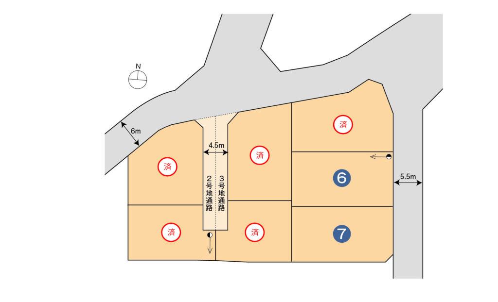 三島市壱町田分譲地 全7区画