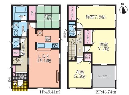 沼津市西沢田第7 新築分譲住宅全5棟 2号棟