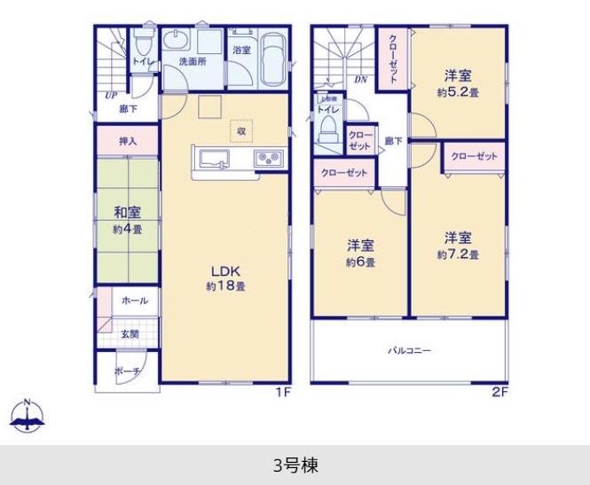 沼津市高尾台第5  新築分譲住宅全3棟 3号棟