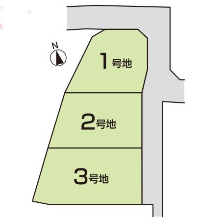 東柏原新田 分譲地 3区画