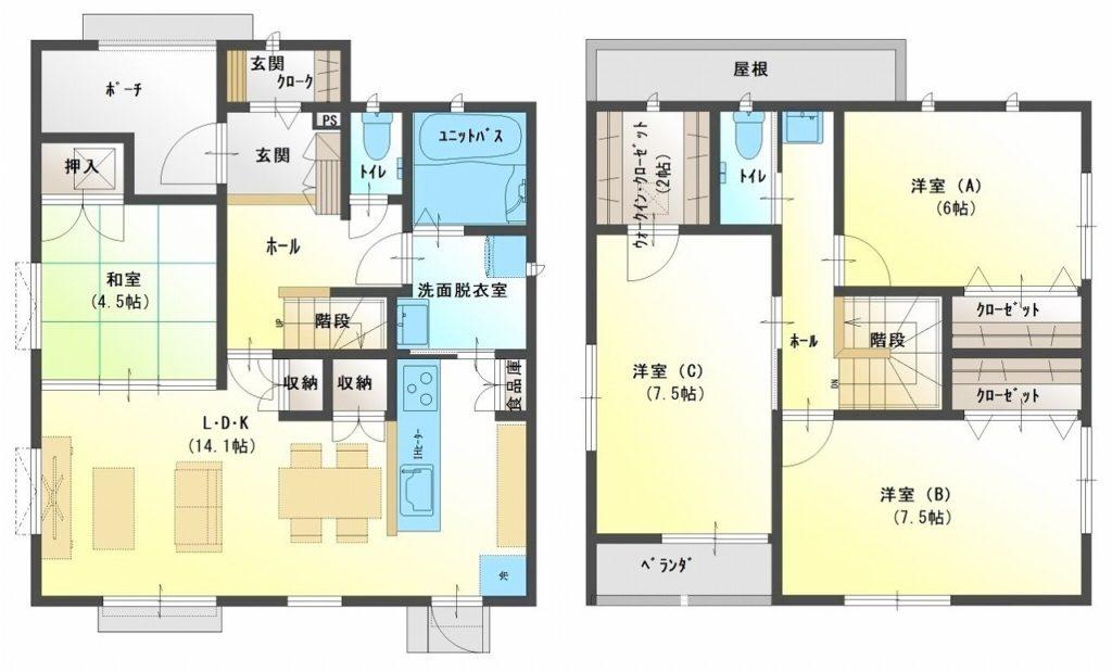水戸島・松井セット住宅 D棟