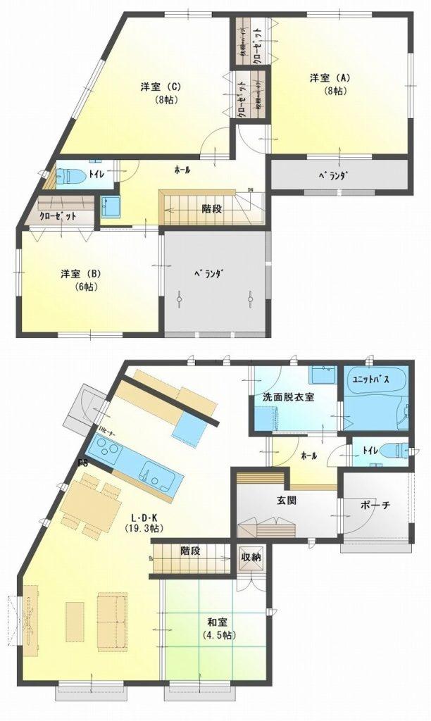 水戸島・松井セット住宅 B棟