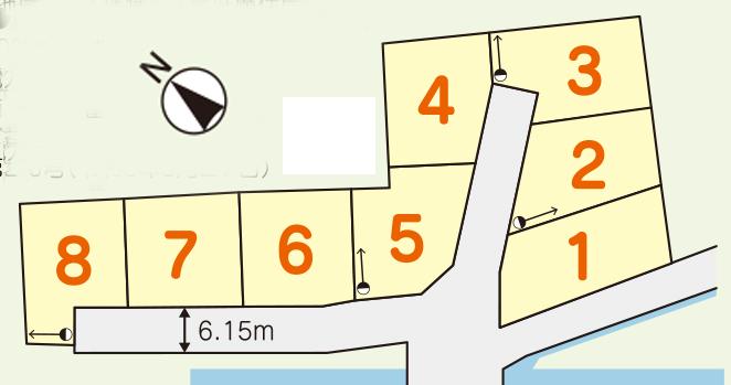 森島 8区画 建築条件なし 1026万~