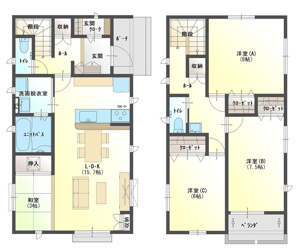 宮島・川成島セット住宅 20号棟