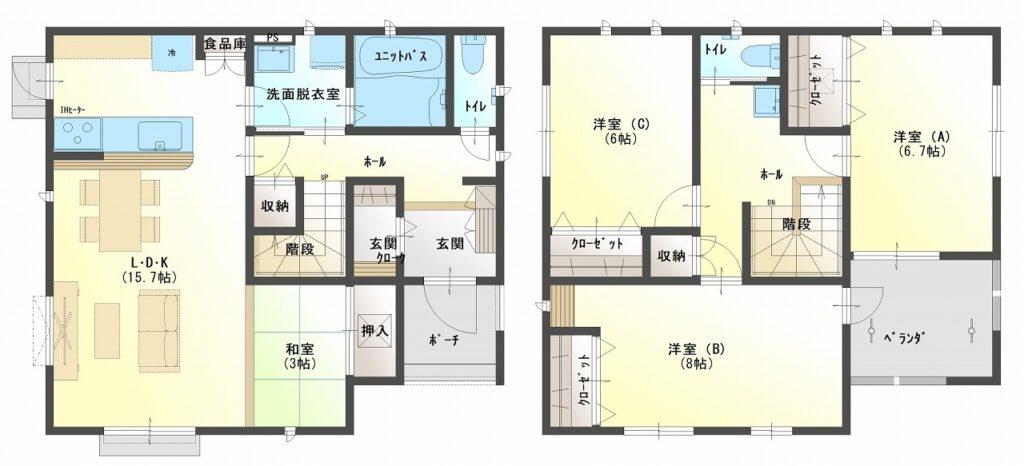 宮島・川成島セット住宅 22号棟