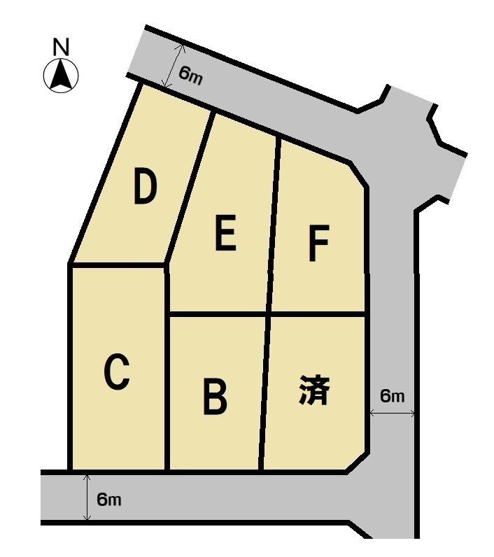 米之宮町分譲地 全6区画